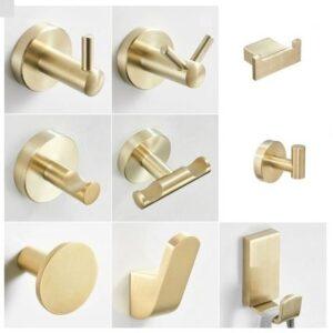 Wieszaki łazienkowe Keri Złote